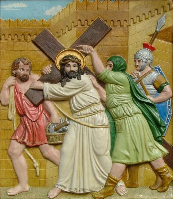 Jesus nimmt das Kreuz auf seine Schultern