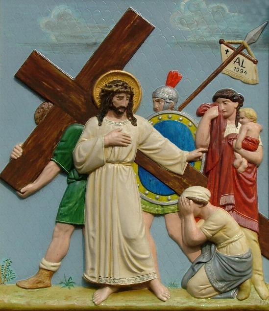 Jesus begegnet den weinenden Frauen