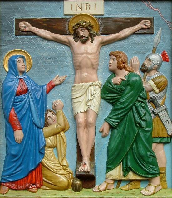 Jesus stirbt am Kreuz